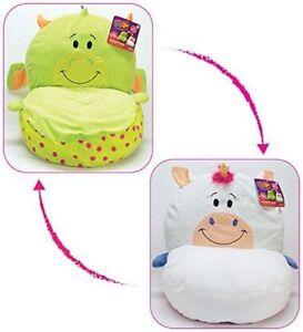 FlipaZoo 2 in1 Plush Toddler Chair –  Dragon to Unicorn