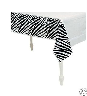 Zebra Stripe Table Cover, Birthday Party, Bachelorette, Anniversary, Baby - Zebra Table Cover