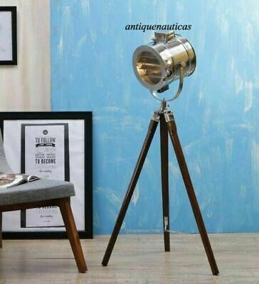 Marine Search light Designer Floor Lamp Nautical Spot Studio Tripod Floor Lamp
