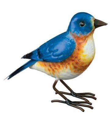 """Blue Bird Metal Outdoor Art Decor (6"""" Tall x 9"""" Long) Free Shipping"""
