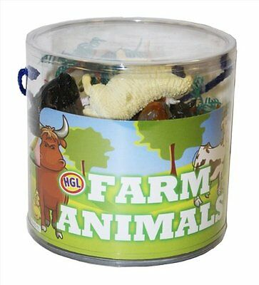 Plastic Wild Farm Yard Animals Model Figure Kids Toys Both Indoor/Outdoor Play