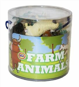 Plastic Wild Farm Yard Animals Model Figure Kids Toys Both Indoor/Outdoor Play