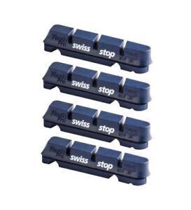 Swissstop Flash Pro BXP Alloy Rim Brake Pad Inserts x 4 - Blue Shimano / Sram