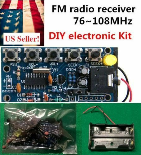 Learn to Solder FM Stereo Radio Receiver 76MHz-108MHz Module Electronic Kit DIY
