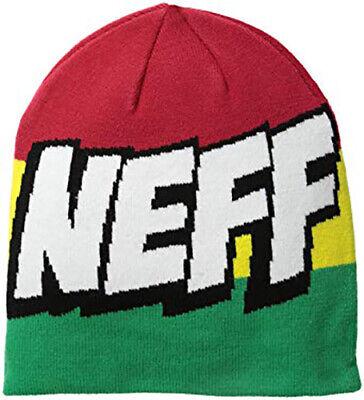 Neff Headwear Cartoon Beanie Soft Knit Slightly Slouchy Logo Unisex Hat Rasta