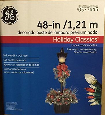 Holiday Lamp Post Decorations (G.E. 48-In Holiday Classics Pre-lit Decorated Lamp)