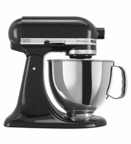 KitchenAid Stand Mixer tilt 5-QT RRK150 Artisan Tilt Choose The Beautiful Colors Caviar CV