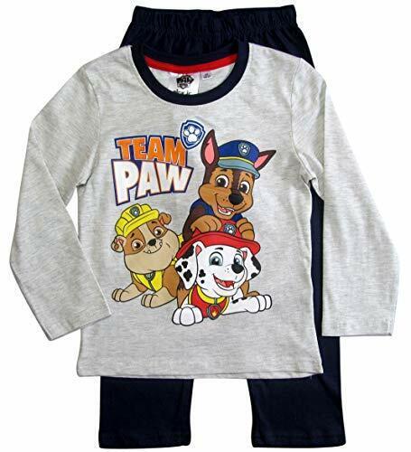 PAW PATROL Pyjama Schlafanzug Langarm Jungen Graumelange-Marine Gr, 98-128
