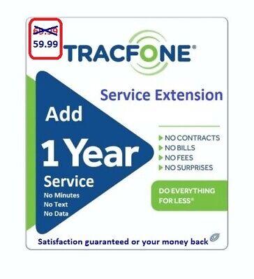 TracFone Service Extension 1 Year / 365 Days -- ( please read description )