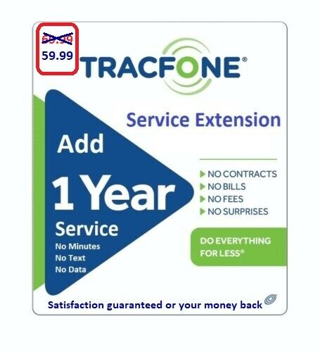 TracFone Service Extension 1 Year / 365 Days -- ( please read description )