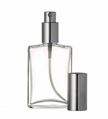(New Perfume Atomizer Empty Refillable Flat Glass Spray Bottle 1oz 2oz 30ml 50ml)