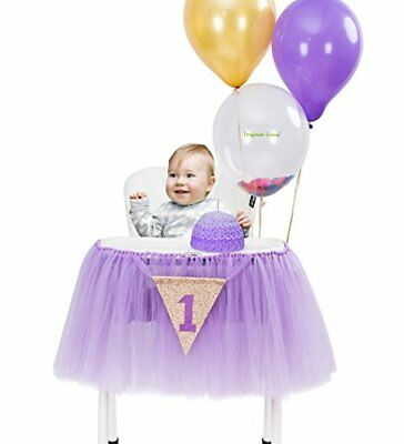 Originals Group 1st Birthday Frozen Tutu for High Chair Party Decor (Frozen Decorations For Parties)