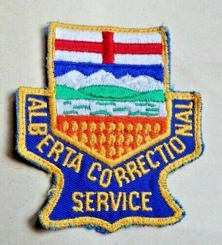 Vintage Alberta Canada Correctional Service Patch - OBSOLETE!!!