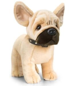 KEEL TOYS Standing DOG FRENCH BULLDOG Louie SOFT TOY 30cm