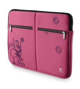 Logitech-15-6-inch-Notebook-Sleeve-Pink-Laptop-Netbook-Carry-Case-Bag-NEW