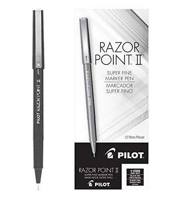 Pilot Razor Point Ii Fine Line Marker Stick Pens Super Fine Point 0.2mm Black