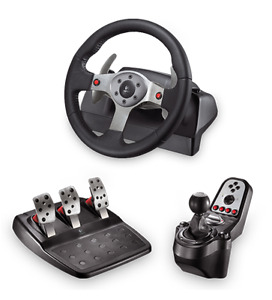 g25 driving force logitech 3 pedale, gaz break clutch, shifterH