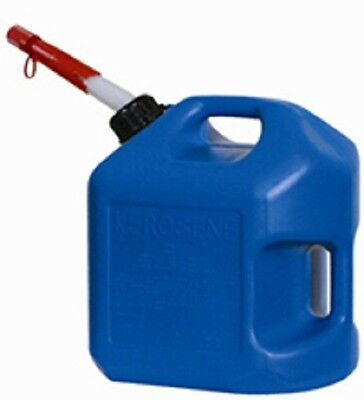 Midwest 7600 5 Gallon Blue Plastic Spill Proof K-1 Kerosene Fuel Can
