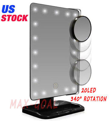 Best Lighted Makeup Mirror Magnifying With Light 10x Vanity Desktop Standing (Best Lighted Magnifying Mirror)