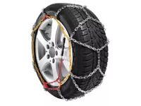 Snow chains, brand new in case, fit many sizes