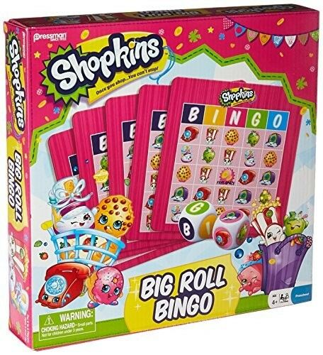 Shopkins Big Roll Bingo Kit Kids Board Game Preschool Toy