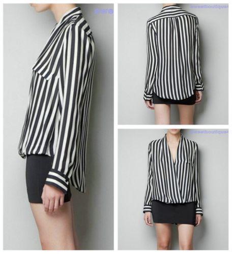 Black and White Vertical Striped Shirt | eBay