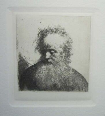 REMBRANDT (after) -OLD MAN WITH A FLOWING BEARD- ETCHING by AMAND-DURAND