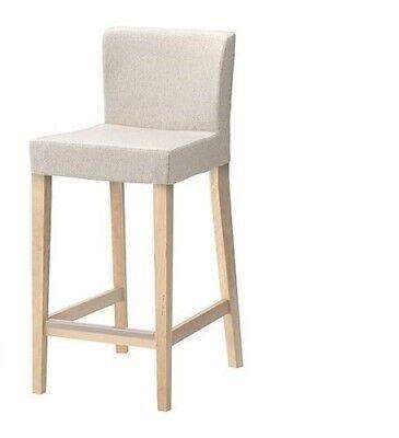Ikea HENRIKSDAL Cover for Bar Stool with Back Rest, Linneryd Natural 701.881.93 tweedehands  verschepen naar Netherlands