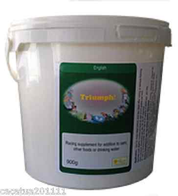 TRIUMPH IN FOOD/WATER RACING PIGEON SUPPLEMENT 900G BY THE BIRDCARE COMPANY