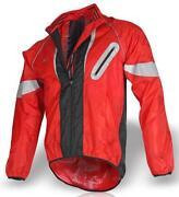 Red Waterproof Cycling Jacket