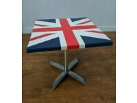 New Werzalit Union Jack Laminate Indoor Outdoor Folding Table 700mm Bistro Cafe
