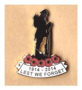 Enamel Poppy Badge