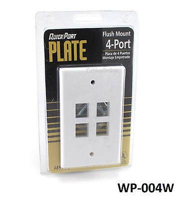 -  Leviton QuickPort Single Gang White 4-Port Faceplate Keystone Wall Plate