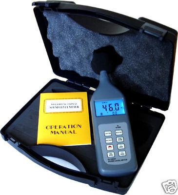 Digital Sound Noise Level Meter Self Calibration Rs232