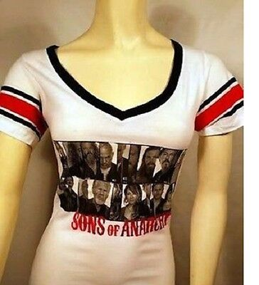 Fall 13 Authentic Sons Of Anarchy Soa Group Photo Jersey Juniors T Shirt S Xl