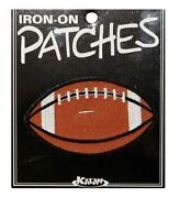 Football Iron on Patches