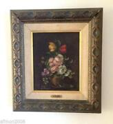 Antique Flower Oil Painting
