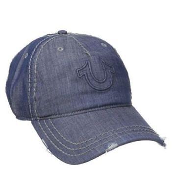 New True Religion Hat Denim Distressed Horseshoe Baseball Fashion Trucker Cap