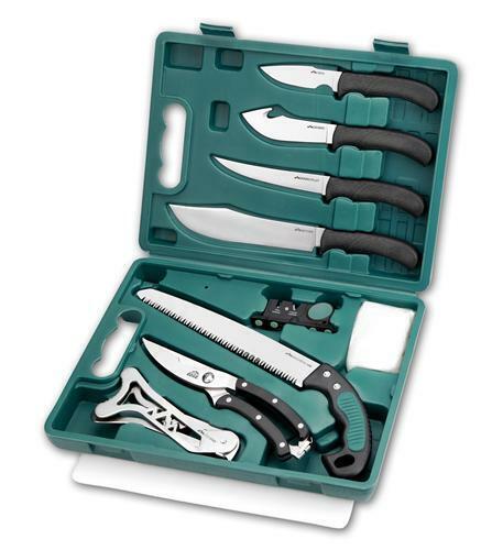 Outdoor Edge OE-GP-11 Butchering GAME-PROCESSOR (12 Pcs)  Portable Box Knife Set