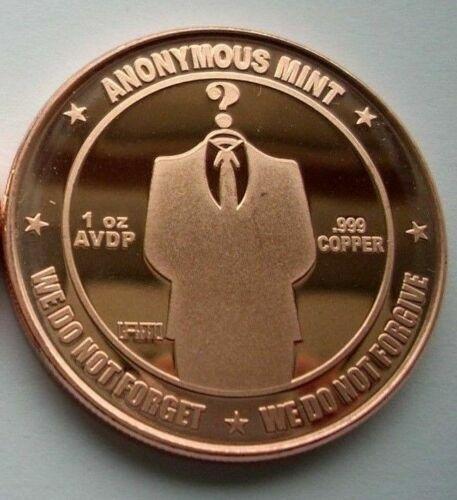 1 oz Copper Round - Anonymous Man