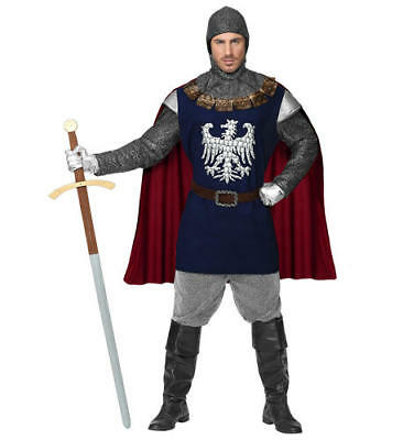 Mens King Arthur St George Knight Chainmail Adult Fancy Dress Costume Outfit S](King George Costume)
