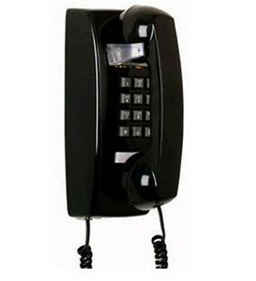Black Retro Wall Mountable Hanging Telephone Phone Bell R...