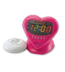 NEW SONIC ALERT Sonic Boom Sweetheart Alarm Clock SA-SBH400SS Buzzer/Bed Shaker
