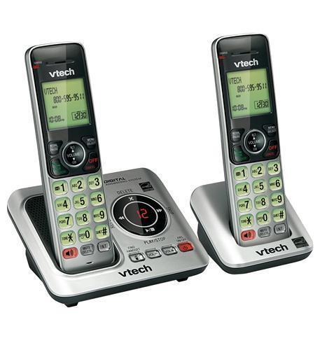 Vtech DECT 6.0 2 Cordless Handset Home Telephone Phone System ID CS6629-2
