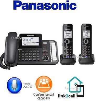 2 Line Expandable Phone - Panasonic KX-TG9582B 2-Line Expandable Phone System Black