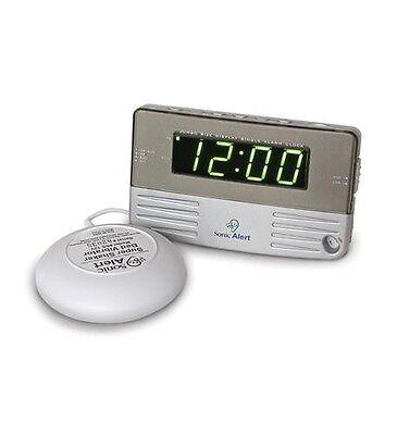 Sonic Alert, Sonic Boom Alarm Clock w Bed Shaker SA-SB200SSEU Snooze Extra loud