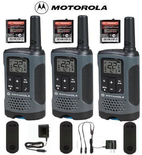 Motorola Talkabout T200TP Walkie Talkie 3 Pack Set 20 Mile Two Way Radio