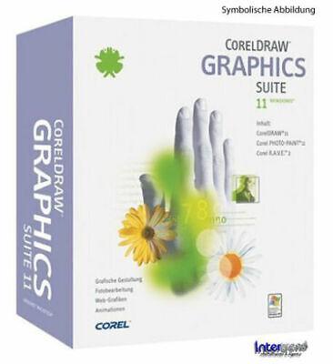 Corel DRAW 11 Graphics Suite + Photo Paint 11 Deutsche Vollversion OEM NEU