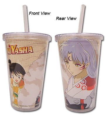 **License Cup** Inuyasha Sesshomaru & Rin Tumbler Coffee Mug w/ Straw Lid #69162