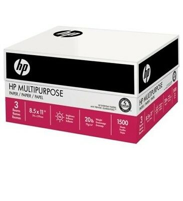 HP Multi-Purpose Paper, Print, Fax&Copy Paper, Letter, 20lb, 96-Bright, 1,500ct